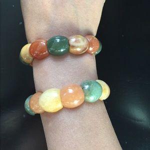 Jewelry - ☀️ Jade stones set of bracelet multicolor